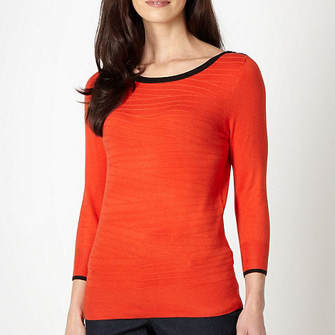 The Collection Petite - Petite orange textured knit jumper