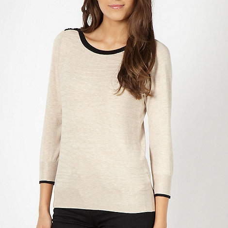 The Collection Petite - Petite beige textured knit jumper