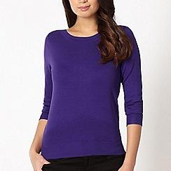 The Collection - Dark purple chevron hem jumper