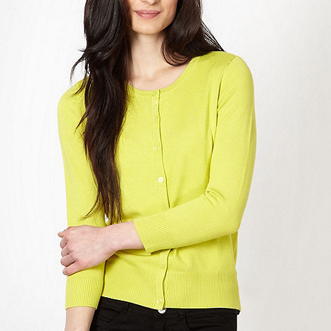 The Collection - Lime soft stretch cardigan