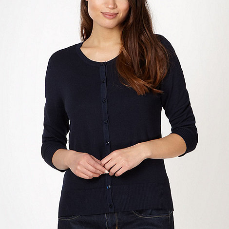 The Collection - Navy stretch cardigan