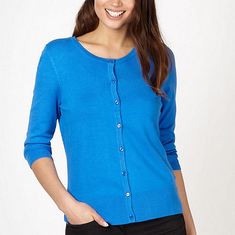 The Collection - Bright blue stretch cardigan