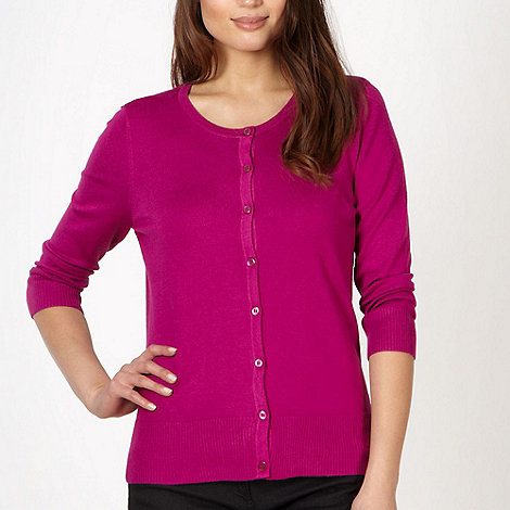 The Collection - Dark pink stretch cardigan