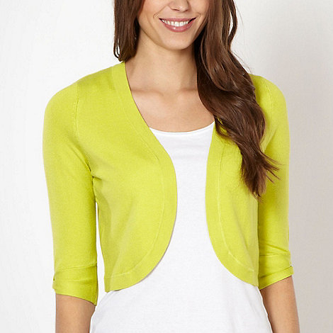 The Collection Petite - Petite lime knitted shrug