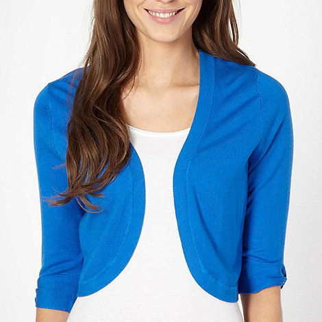 The Collection - Bright blue knitted shrug