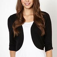 Black knitted shrug
