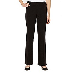 The Collection Petite - Petite black button tab suit trousers
