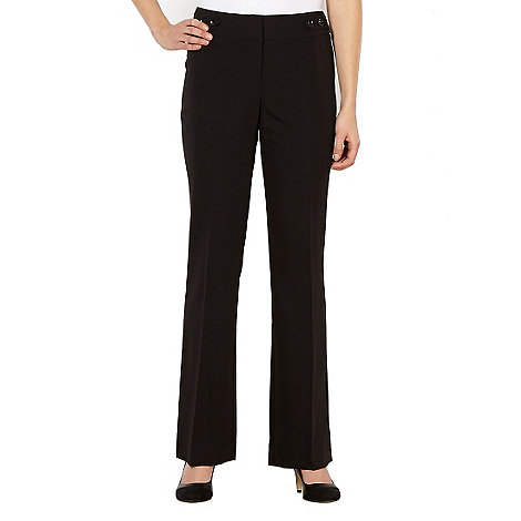 The Collection - Black button tab suit trousers