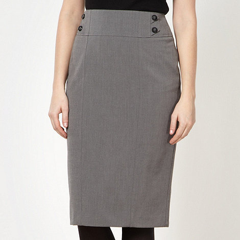 The Collection - Grey button waist skirt