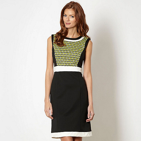 The Collection - Black geometric pattern formal dress