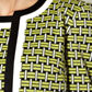 The Collection - Lime geometric pattern cropped jacket Alternative 2