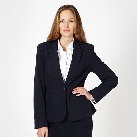 The Collection Petite - Petite navy smart single breasted jacket