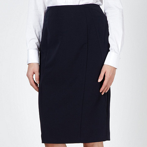 The Collection Petite - Petite navy smart pencil skirt