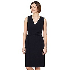 The Collection Petite - Petite navy smart belted dress