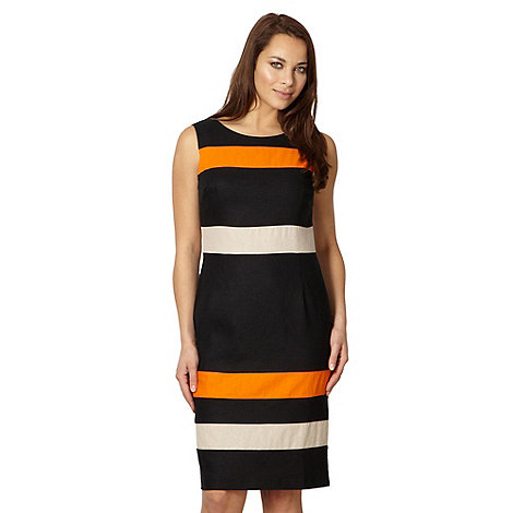 The Collection - Black colour block striped shift dress