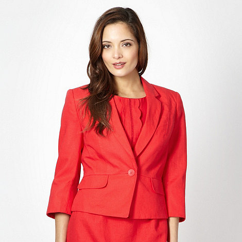 The Collection - Red linen blend jacket