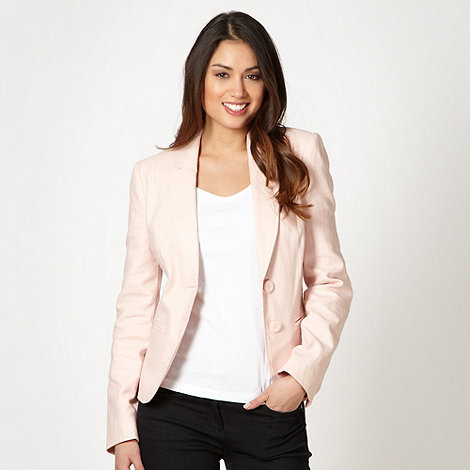 The Collection - Pale pink linen blend jacket