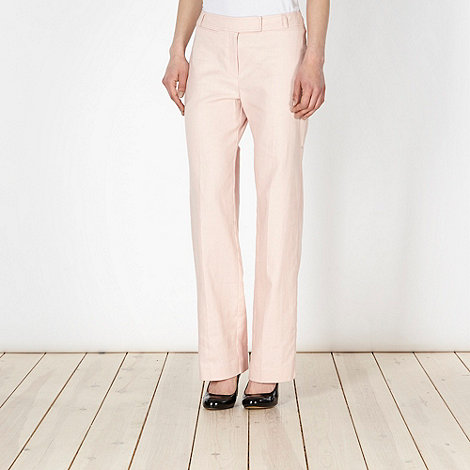 The Collection Petite - Petite pink linen blend suit trousers