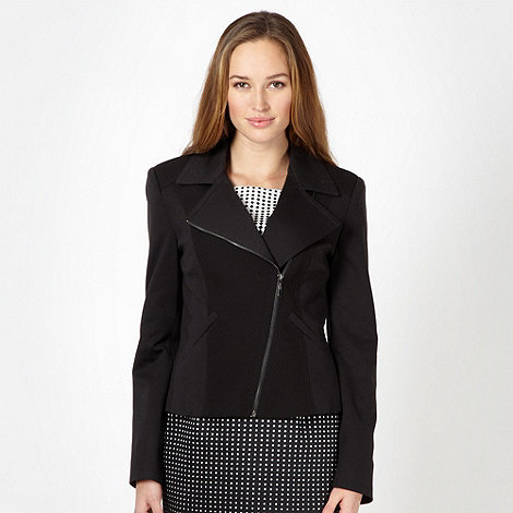 The Collection Petite - Petite black biker style blazer