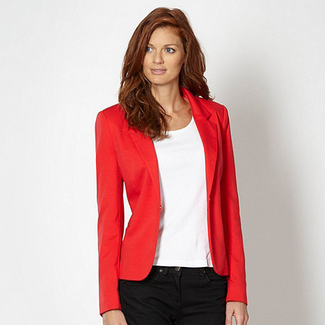 The Collection - Dark coral notch neck blazer