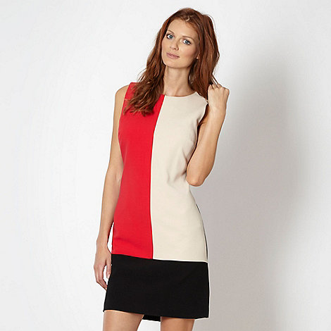 The Collection Petite - Petite bright pink colour block shift dress