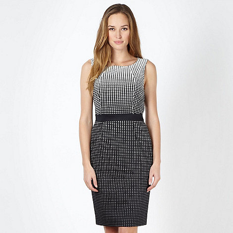 The Collection - Black diamond spot shift dress