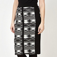 The Collection - Black aztec skirt