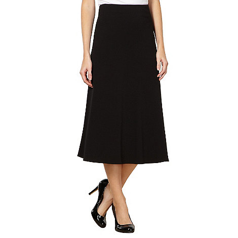 The Collection Petite - Petite black midi minimalist skirt