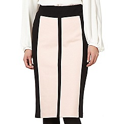 The Collection Petite - Petite pale pink colour block skirt