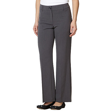 The Collection Petite - Petite grey flat front trousers