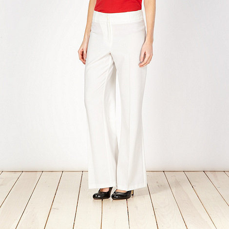 The Collection - Ivory woven trousers