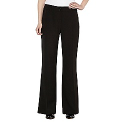 The Collection Petite - Petite black bootcut long trousers