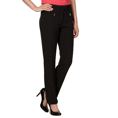 The Collection Petite - Petite black zip pocket slim leg trousers