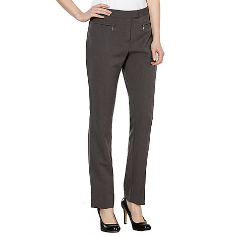 The Collection Petite - Petite grey zip pocket slim leg trousers