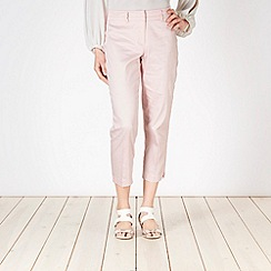 The Collection - Pale pink cropped sateen trousers