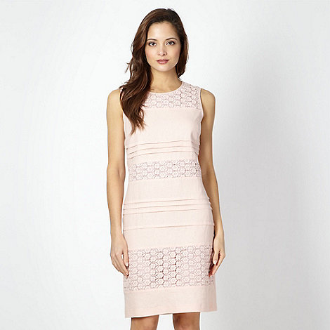 The Collection - Pale pink broderie panel dress