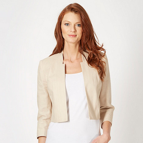 The Collection - Natural linen mix bolero