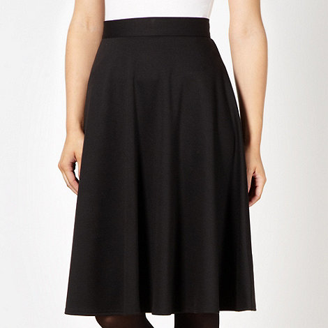 The Collection Petite - Petite black wide hem plain midi skirt