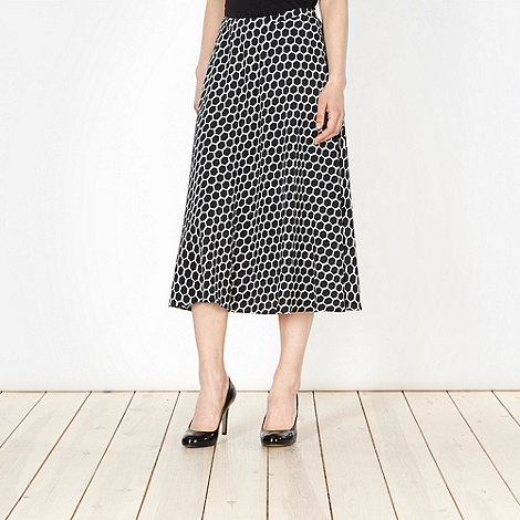 The Collection - Black geometric spotted skirt