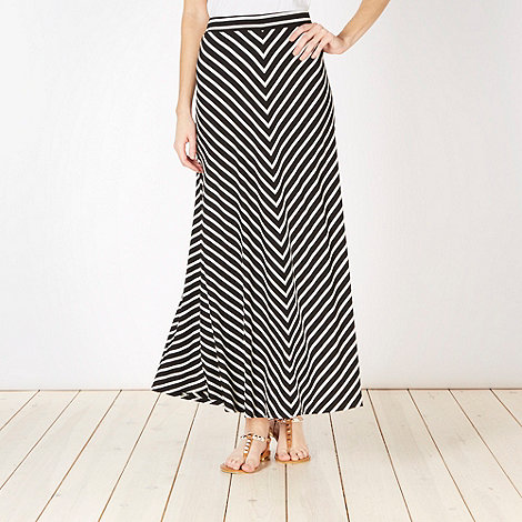 The Collection - Back chevron stripe maxi skirt
