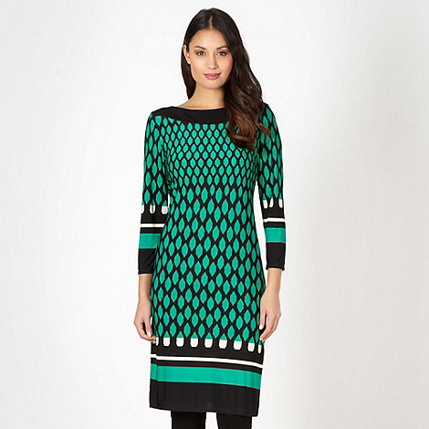The Collection Petite - Petite green diamond tiled tunic