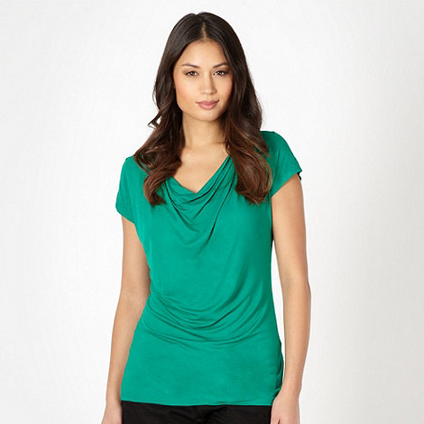 The Collection Petite - Petite green cowl neck top