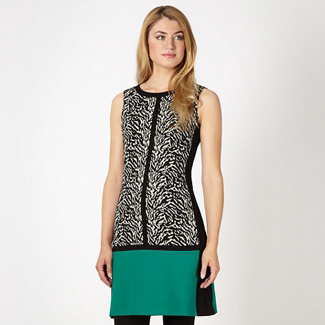 The Collection Petite - Petite black zebra print tunic