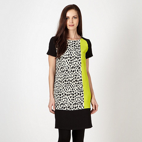 The Collection - Black colour block animal print tunic