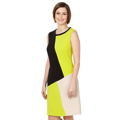 The Collection Petite - Petite lime colour block tunic dress