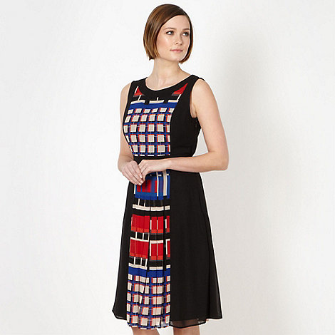 The Collection - Black pop art pleated dress
