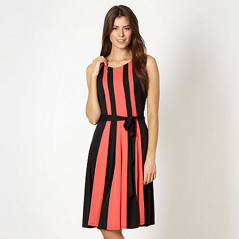 The Collection - Black colour block midi length dress