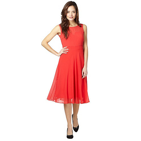 The Collection - Coral chiffon prom dress