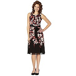 The Collection Petite - Petite black rose printed dress