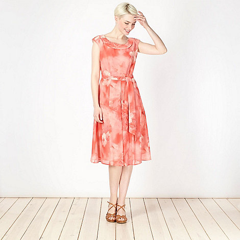 The Collection Petite - Petite pink blurred floral prom dress